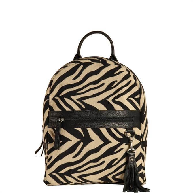 Hill & How Sophie Zebra Stripes Backpack