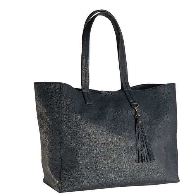 Hill & How Olivia Navy Leather Tote Bag