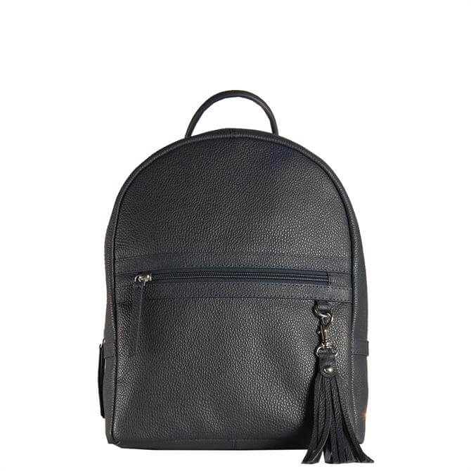 Hill & How Sophie Navy Leather Backpack