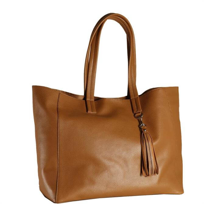 Hill & How Olivia Tan Leather Tote Bag