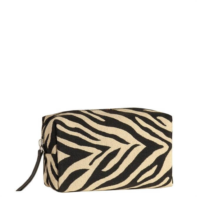 Hill & How Clare Zebra Stripes Cosmetic Bag