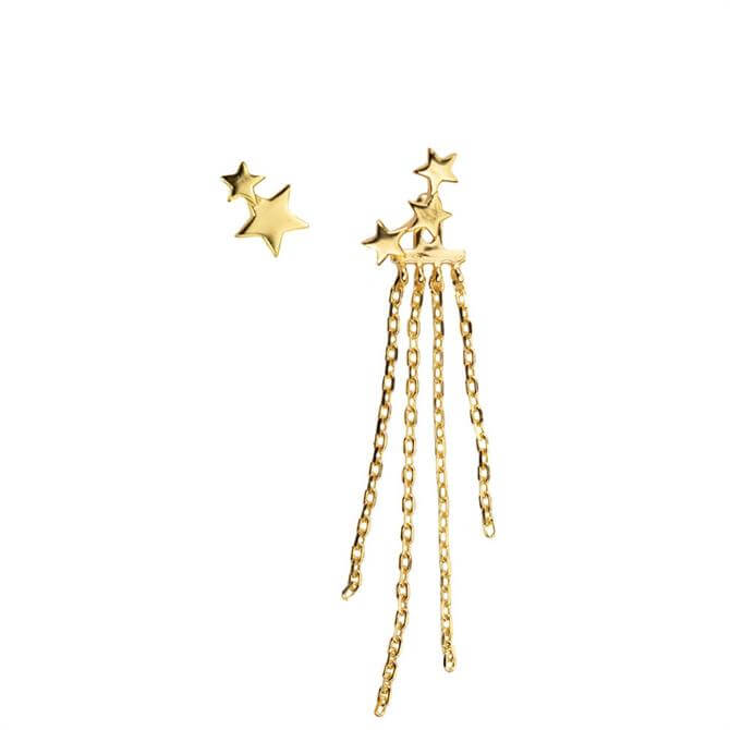 Hultquist Gold Plated Star Dust Earrings