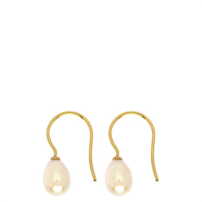 Hultquist Belle Sterling Silver Hook Earrings with Freshwater Pearls