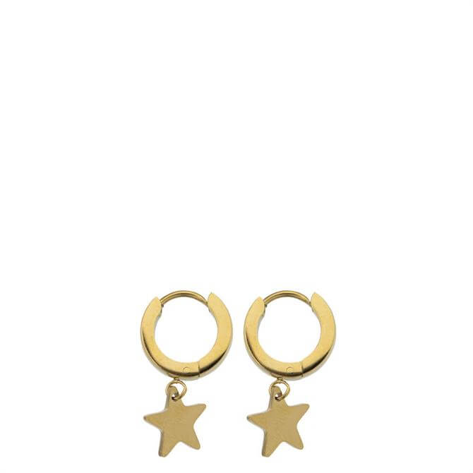 Hultquist Gold Star Hoop Earrings