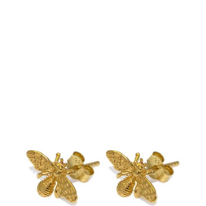 Hultquist Gold Bee Earrings
