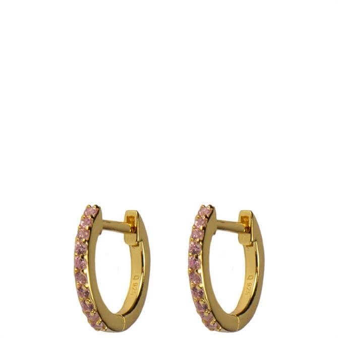 Hultquist Esta Hoop Earrings with Rose Cubic Zirconia