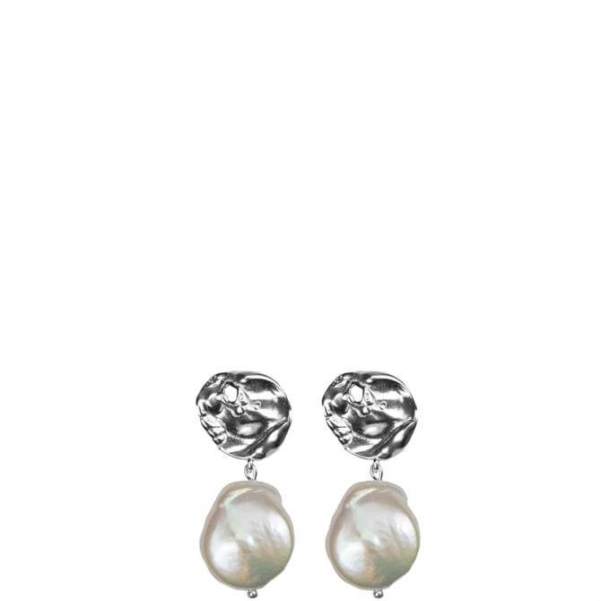 Hultquist Organic Pearl Love Earrings