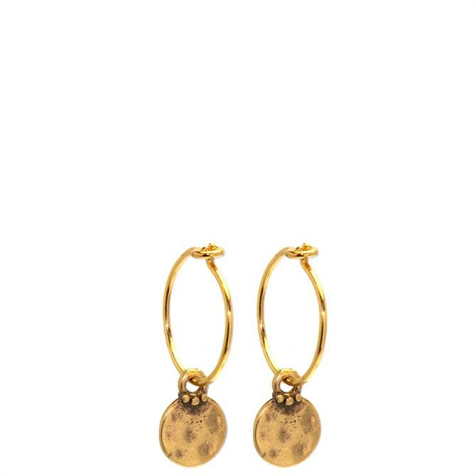 Hultquist Mini Coin Hoop Earrings