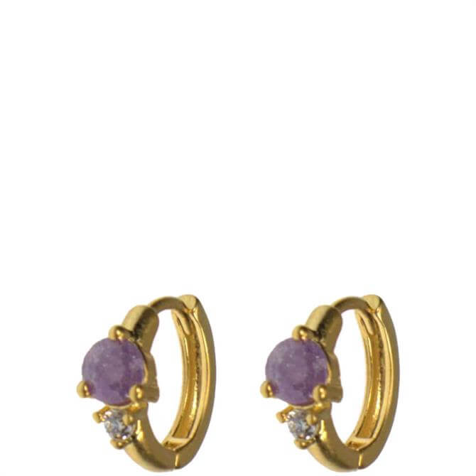 Hultquist Amethyst Hoop Earrings