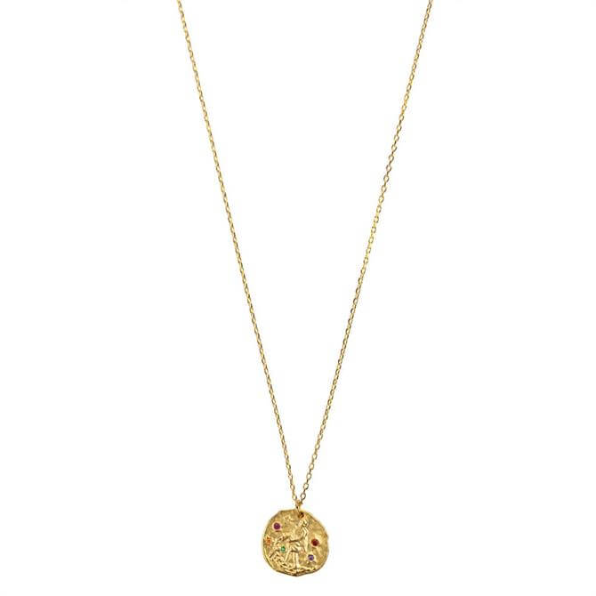 Hultquist Gold Zodiac Sign of Aquarius Necklace