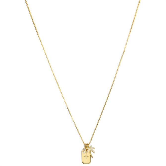 Hultquist Palm Tree 18k Gold Plated Sterling Silver Necklace