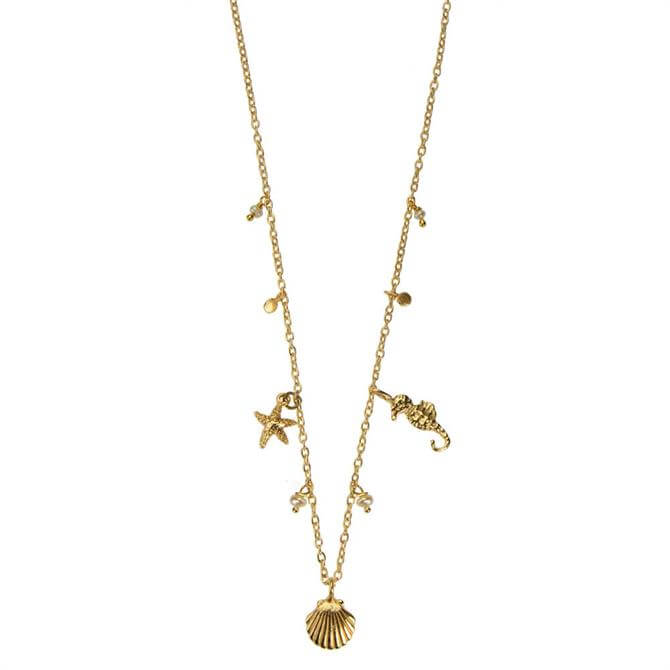 Hultquist Under the Sea Gold Necklace