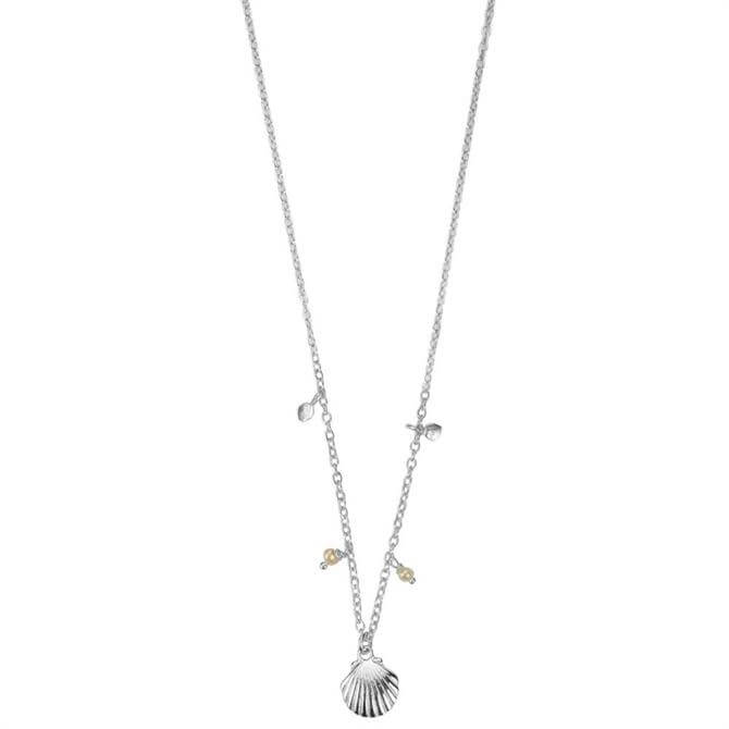 Hultquist Silver Shell Necklace