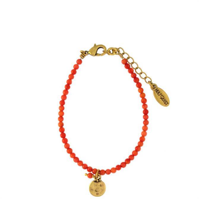 Hultquist Orange Coin Bracelet