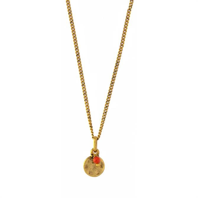 Hultquist Orange Coin Necklace