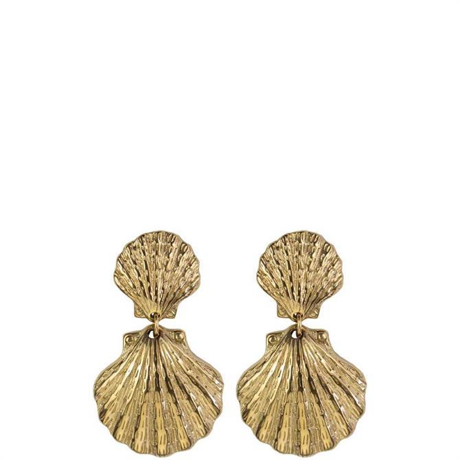 Hultquist Double Shell Drop Earrings