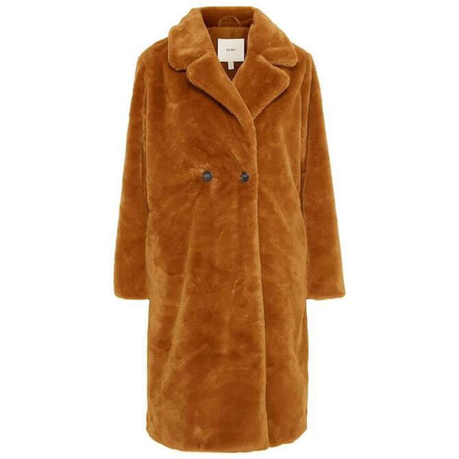 Ichi Haya Faux Fur Coat