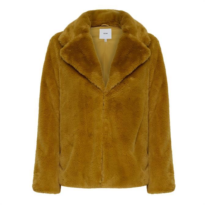 Ichi Simpo Faux Fur Jacket