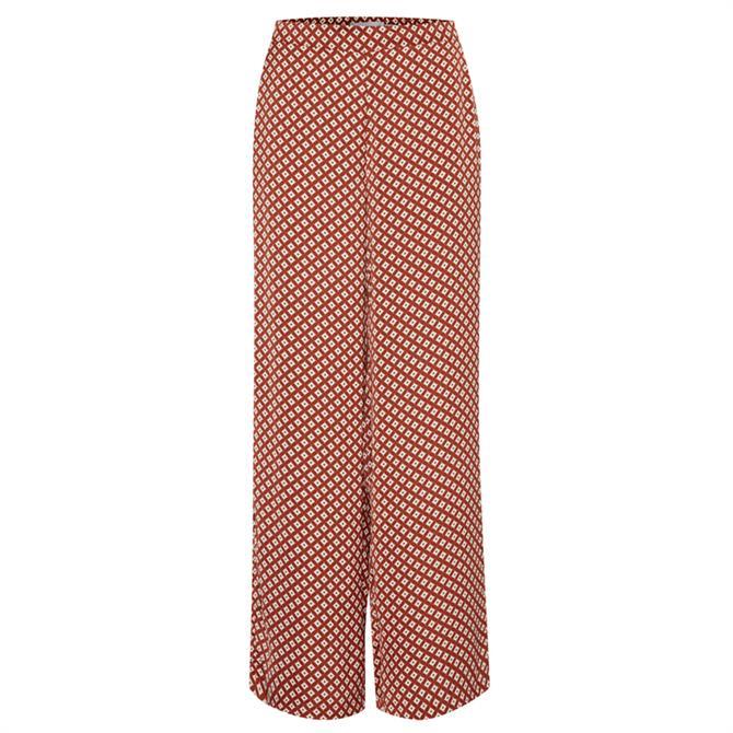 Ichi Accante Pattern Trouser
