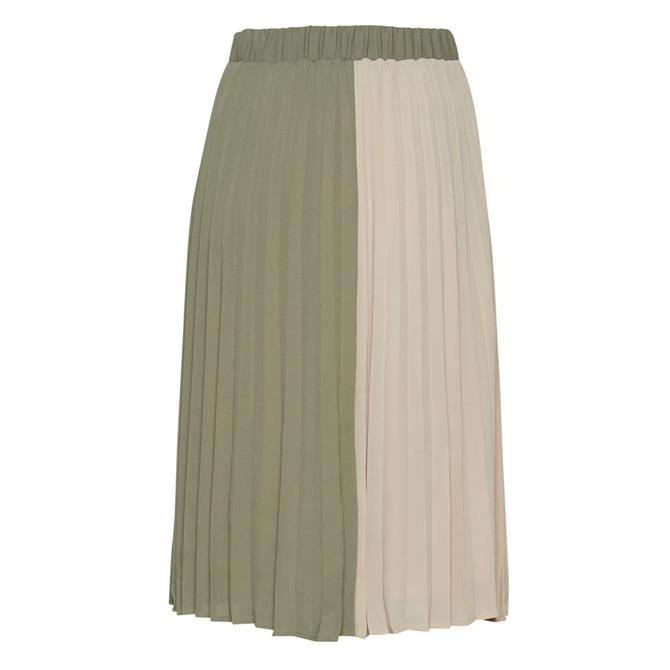 Ichi Hajdi Colour Block Pleated Skirt