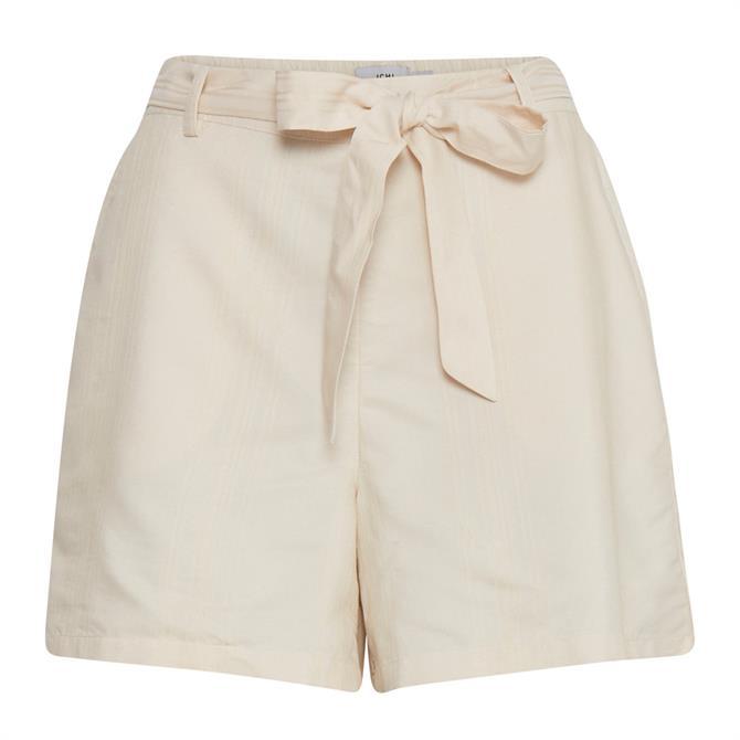 Ichi Tie Waist Belted Shorts