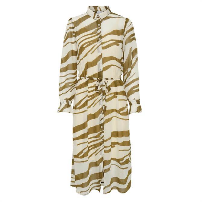 Ichi Bikkar Tiger Print Shirt Dress