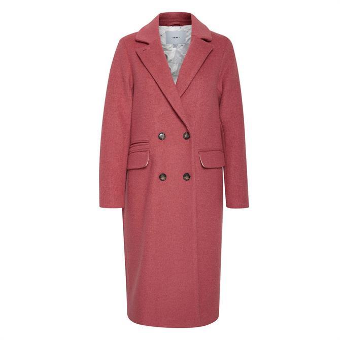 Ichi Elaine Double Breasted Long Coat