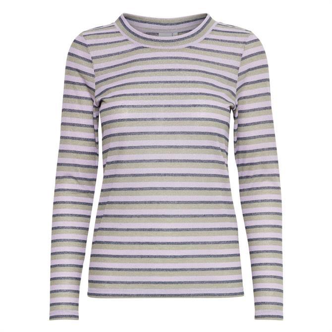 Ichi Ferona Striped Top