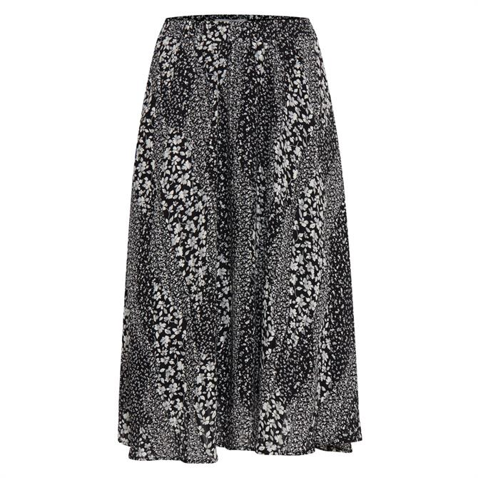 Ichi Hetty Floral Midi Skirt
