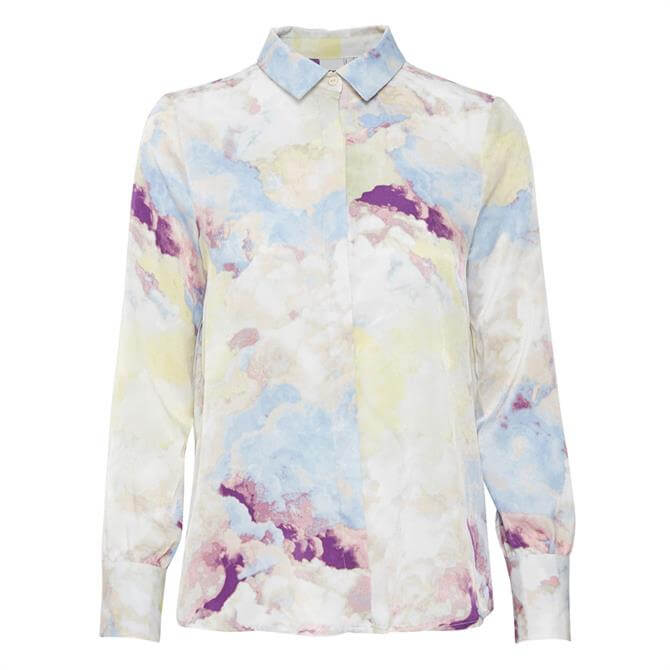 Ichi Ihcloudy Print Long Sleeved Shirt