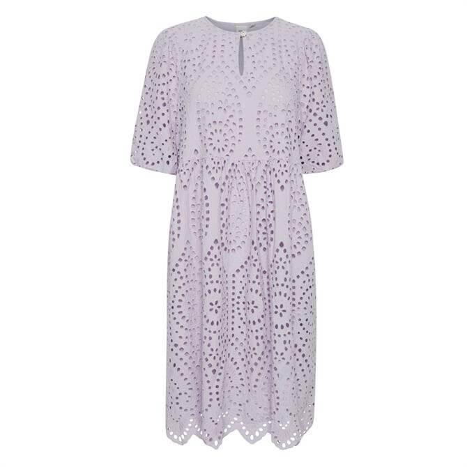Ichi Ihfionn Laser-Cut Embroidered Dress