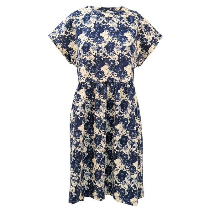 Ichi Ihkate Floral Print Cap Sleeve Dress