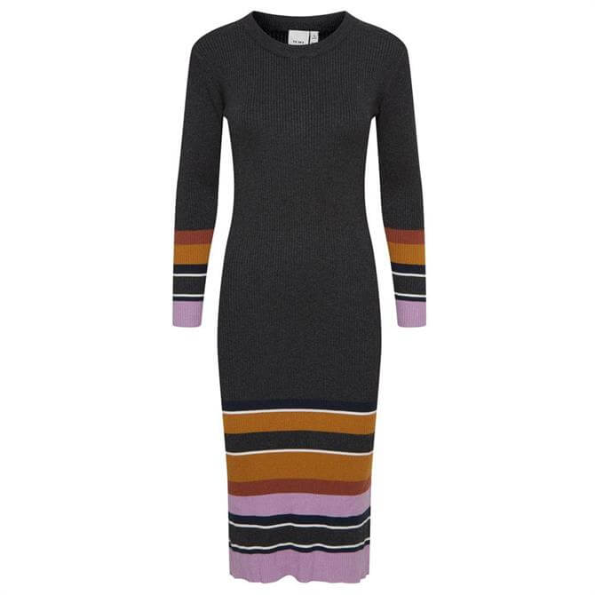 Ichi Mafa Striped Ribbed Dress