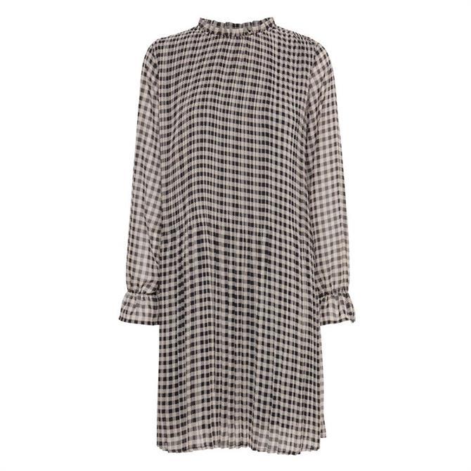 Ichi Nally Check Pattern Dress
