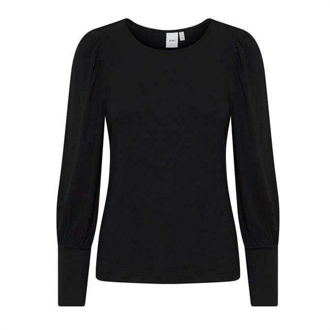 Ichi Long Puff Sleeve Top