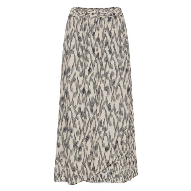 Ichi Bijou Sketch Pattern Midi Skirt
