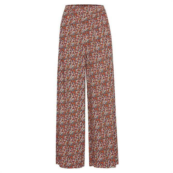 Ichi Summer Fig Floral Print Trousers
