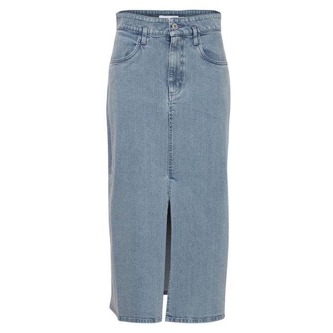 Ichi Wish Denim Midi Skirt