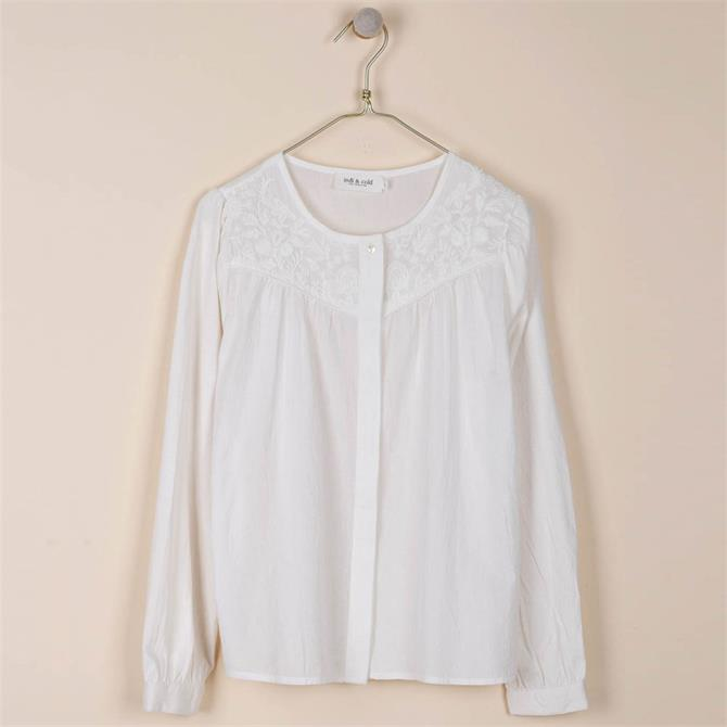 Indi & Cold Combined Fabric Embroidered Shirt