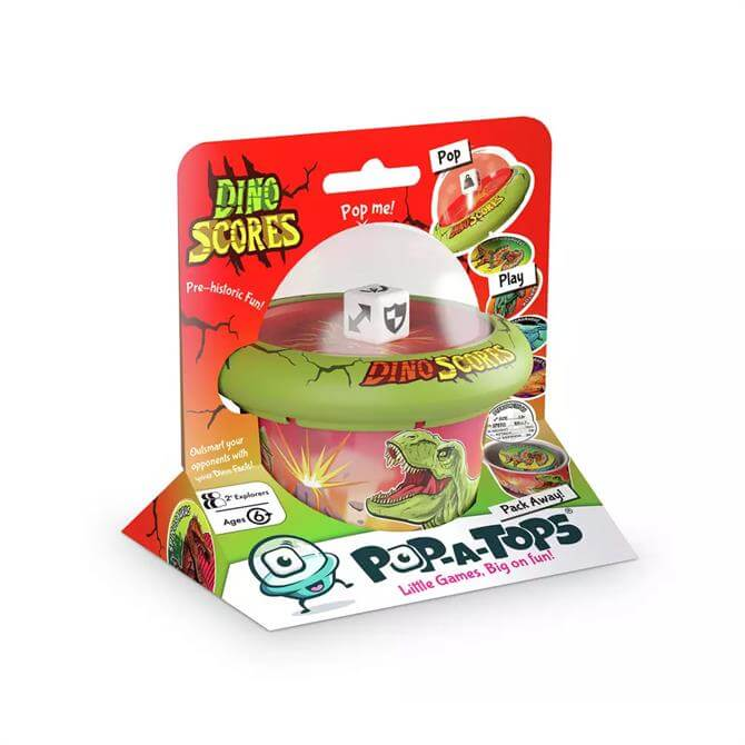 Pop-A-Tops Dino Scores Family Travel Game