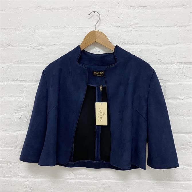 Jayley Faux Suede Cropped Jacket