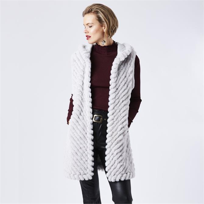 Jayley Faux Fur Hooded Gilet