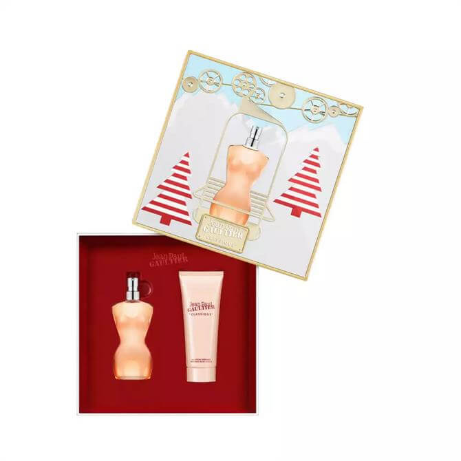 Jean Paul Gaultier Classique EDT 50ml Christmas Gift Set For Her