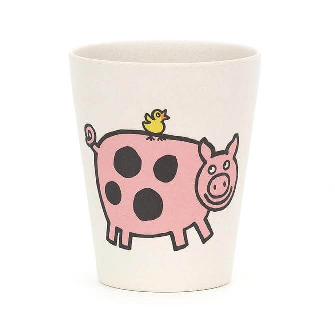 Jellycat Farm Tails Pig Bamboo Cup