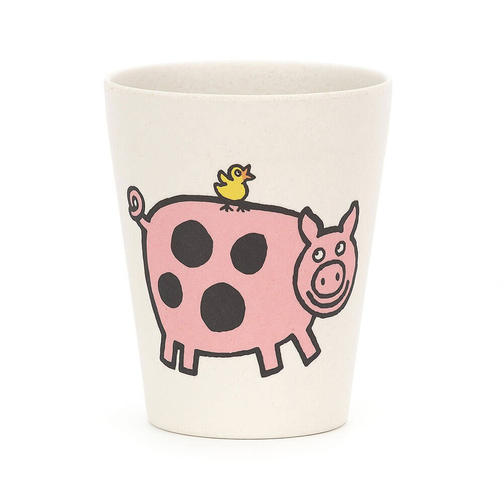 An image of Jellycat Farm Tails Pig Bamboo Cup