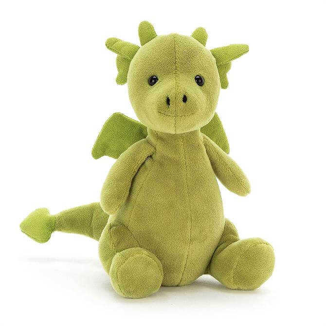 Jellycat Little Puff Jade Soft Toy Dragon