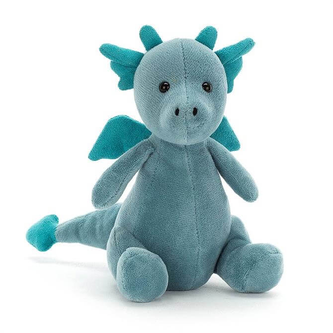 Jellycat Little Puff Sapphire Soft Toy Dragon
