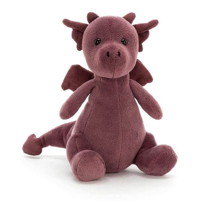 Jellycat Little Puff Violet Soft Toy Dragon