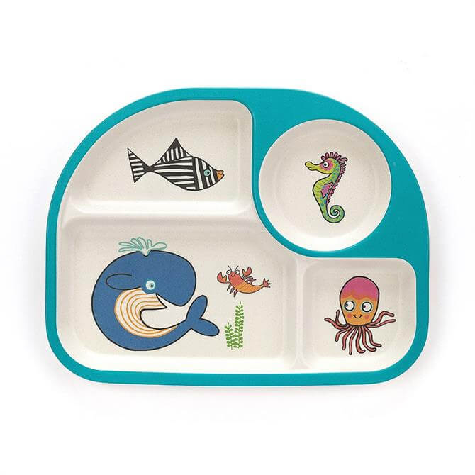 Jellycat Sea Tails Bamboo Divided Baby Plate