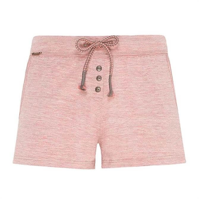 Jockey Pink Melange Supersoft Lounge Shorts